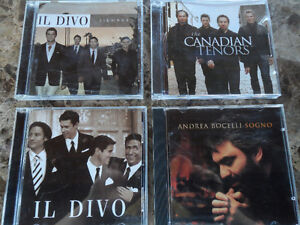 IL DIVO, ANDREA BOCELLI AND THE CANADIAN TENORS CDs