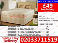 BRAND NEW DOUBLE DIVAN BED AVALIBLE WITH GOOD QUALITY MATTRESS CALL NOW