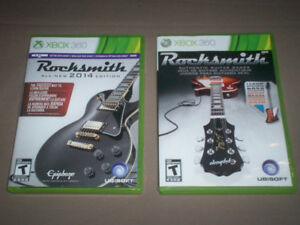 2 ROCKSMITH XBOX 360 GAMES PLUS REAL TONE CABLE