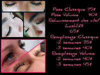 Extension de cils - rehaussement / lashlift