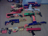 Nerf Blasters and accessories