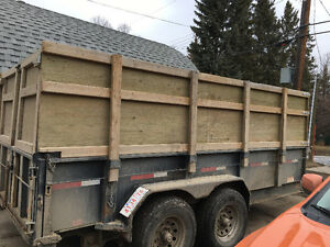 "14""x17"" Hydraulique dump trailer Negotiable"