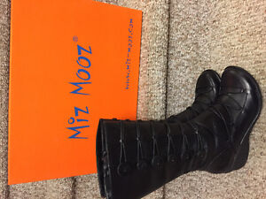 New! Miz Mooz black leather lined boots size 6 or 6.5 Reduced!