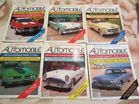 Collectible Automobile magazines 1989