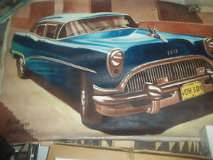 Classic car Oil paintings,  BY OWNER