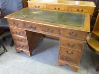 20% OFF ALL ITEMS SALE - Antique Style Desk With 8 Drawers - Can Deliver For £19