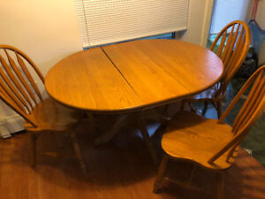 Kitchen table with three chairs