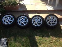 4 15inch alloy wheels and tyres for sale