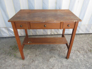 Attractive Antique (c1925) Antique Desk with 3 Drawers