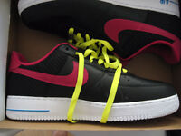 nike air force one 1 black fireberry size 11 new in box