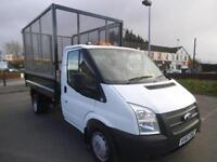 2012 FORD TRANSIT 2.2 TCDI 125 RWD 10FT CAGED STEEL TIPPER *BUY FROM £75 P/W* TI