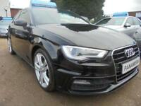 2013 62 AUDI A3 2.0 TDI S LINE 3DR 150 BHP FINANCE WITH NO DEPOSIT AND NOTHING T