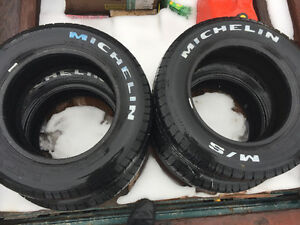 Tires plus 3 heavy truck battery's