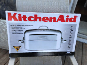 New Kitchenaid 18 inch Stainless Steel Roaster Brand new $80
