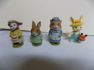 Richard Scarry 1976 Playskool Puzzletown animal figurines