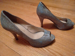 Enzo Angeolini Silver Shoes Size 7M