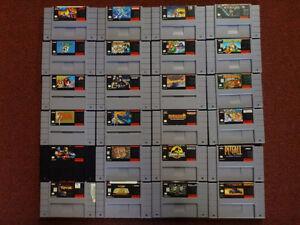 Super Nintendo Snes Games- Super Mario, Zelda, Mortal Kombat