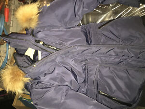 authentic navy  with hooded fur brand new mackage boys 10 jacket