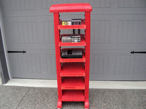 RED SHELF ~ DISPLAY UNIT ~ MULTI PURPOSE ~ ON CASTER'S