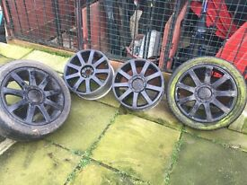VW/Audi 5x100 rs alloys