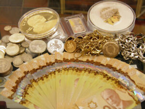 Gold & Silver Jewellery, Coin s and Paper Money Cash Paid