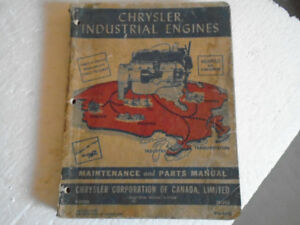 1950 Chrysler Canada Industrial Engines Maintenance Parts Manual