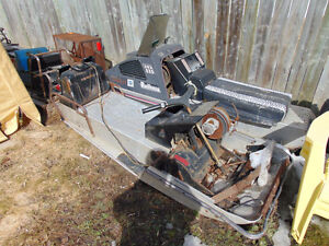 Two vintage Arctic Cat Panther chassis
