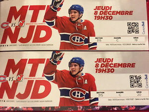 Billets Canadiens contre New-Jersey