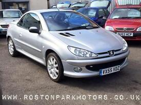 2006 PEUGEOT 206 1.6 CC good history new MOT