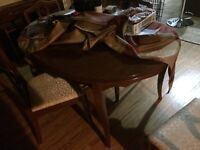 Dining room table and hutch antique great condition