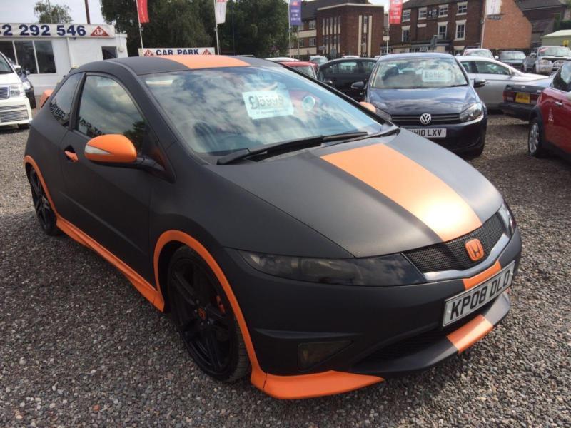 2008 Honda Civic 2 0 I Vtec Type R Gt Black And Orange Wrapped High