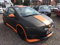 2008 HONDA CIVIC 2.0 i VTEC Type R GT BLACK and ORANGE WRAPPED HIGH SPEC