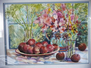 "Morning Harvest, ""Apples on a Large Plate"" by Nell LaMarsh, 1994 Stratford Kitchener Area image 2"