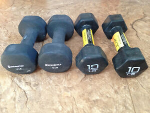 New Dumbbell set, 2x10lb, 2x12lb