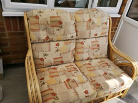 Cane conservatory sofa