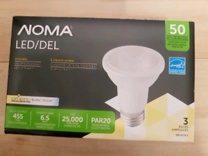 Noma PAR20 Dimmable 50watt LED Light Bulb, 3pk