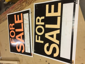 Two For Sale Signs