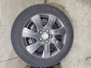 GOODYEAR WINTER TIRES WITH STEEL WHEELS 205/55/16 - 5X114.3