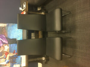 x2 Leather Chairs for sale