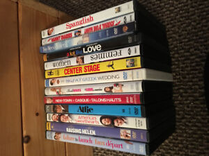 "13 used ""chick flick"" DVD's"