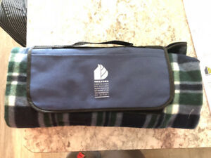 Travel Plaid Throw new, never used