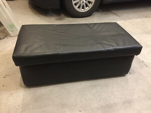 Homemade vinyl foot stool/ coffee table with storage Belleville Belleville Area image 1