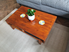 Handmade coffee table - upcycled pallet