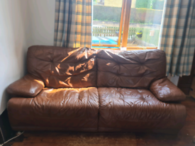 Lovely 3 seater leather sofa