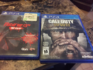 PS4 games both for 40 obo