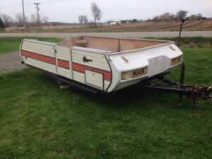 Tent trailer converted to utility trailer