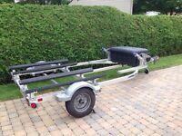 Remorque double Triton pour motomarine