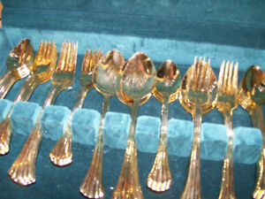 GOLD PLATED SIVERWARE REDUCED