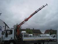 Iveco Eurocargo 18 250 18 ton 22 foot dropside 12.5 metre crane hiab COMPRESSOR