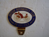 ANTIQUE AUTOMOBILE CLUB OF AMERICA License Plate topper